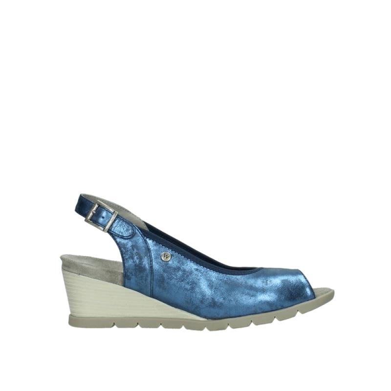 Wolky Sandalen 04666 Collins - 10800 blauw nubuck