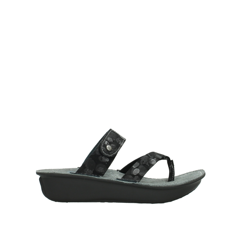 Wolky Slippers 00877 Martinique - 12000 zwart nubuck