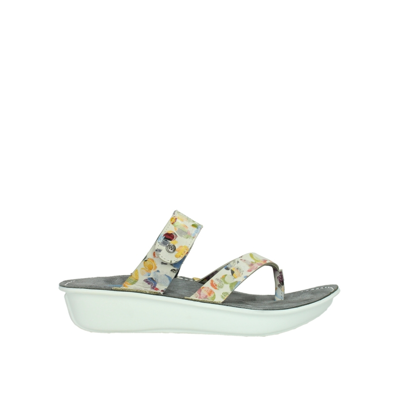 Wolky Slippers 00877 Martinique - 12910 wit multi nubuck