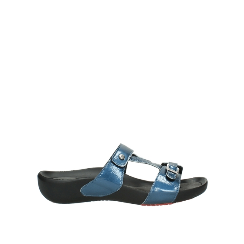 Wolky Slippers 01000 OConnor - 80820 denim metallic lakleer