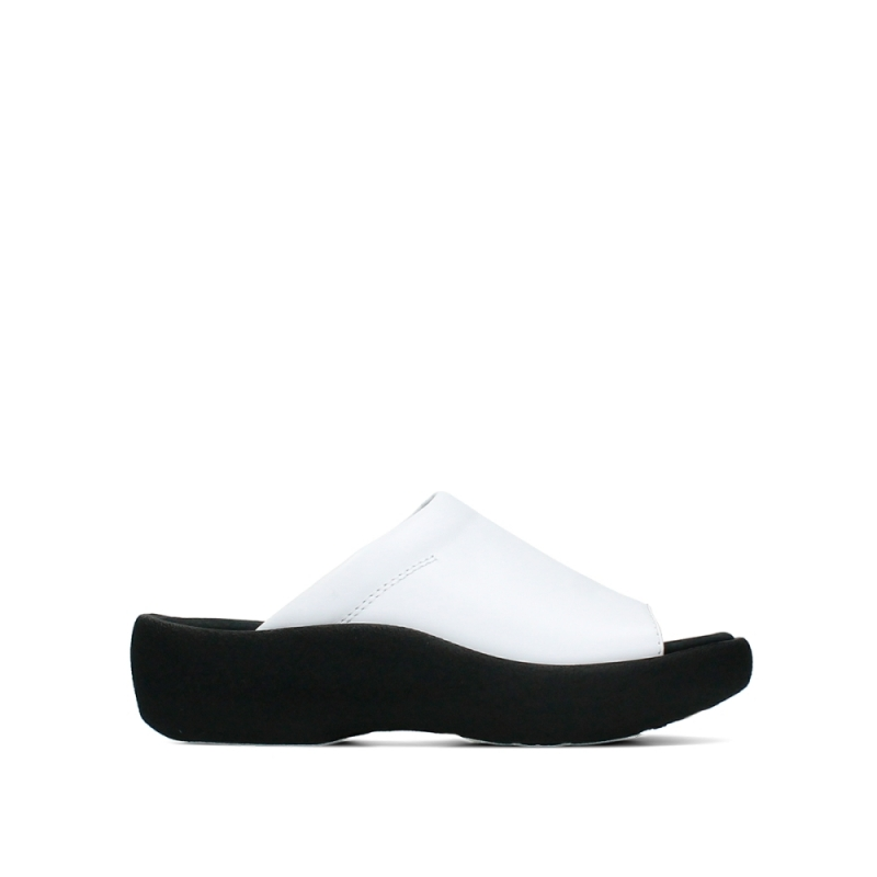 Wolky Slippers 03201 Nassau - 30100 wit leer