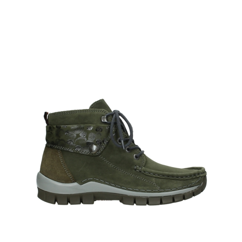 Wolky Veterschoenen 04725 Jump winter - 59730 forestgroen leer