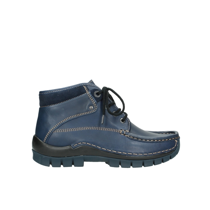 Wolky Veterschoenen 04728 Cross Winter - 20800 donkerblauw leer