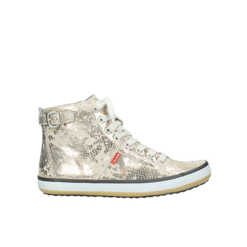 Wolky Sneakers 01225 Biker - 90140 goud metallic leer