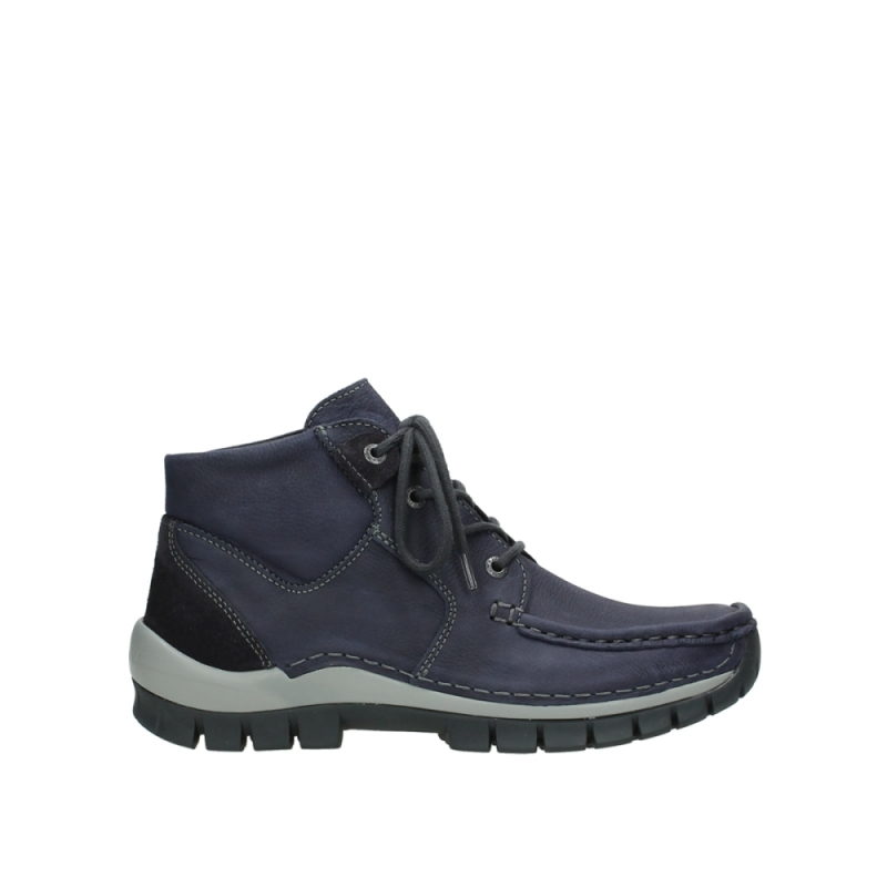 Wolky Veterschoenen 04735 Seamy Cross Up - 11602 paars nubuck