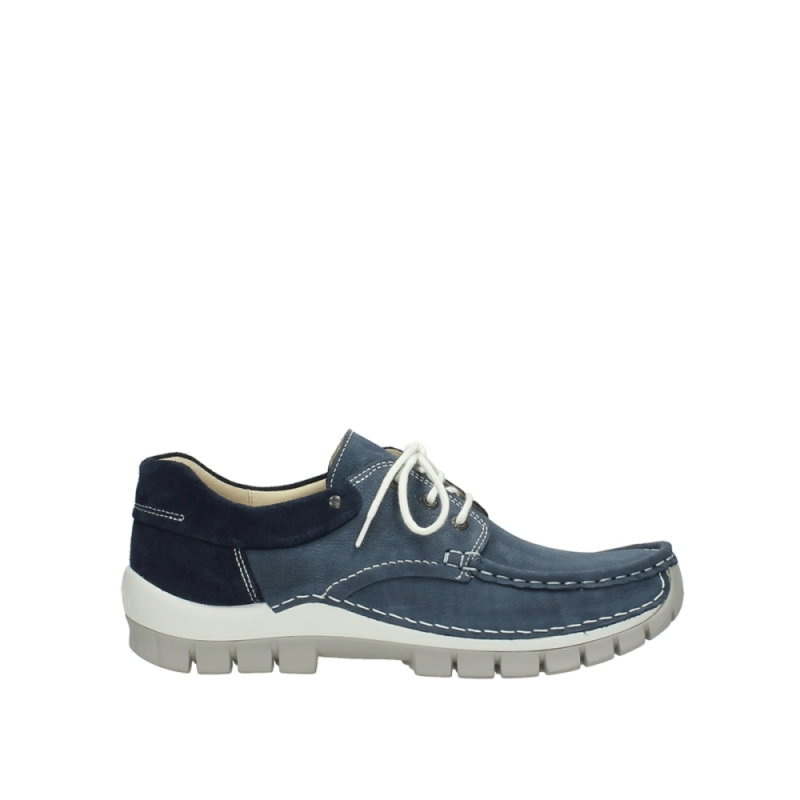 Wolky Veterschoenen 04750 Fly men - 10820 denim blauw nubuck