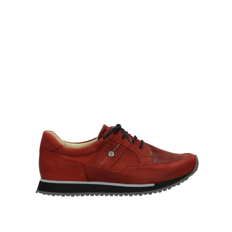 Wolky Sneakers 05800 e-walk - 20540 winter rood stretch leer