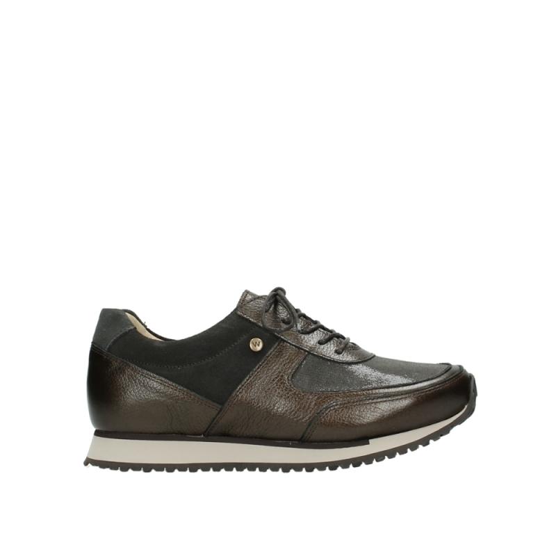 Wolky Sneakers 05806 e-sneaker - 84300 bruin stretch suede