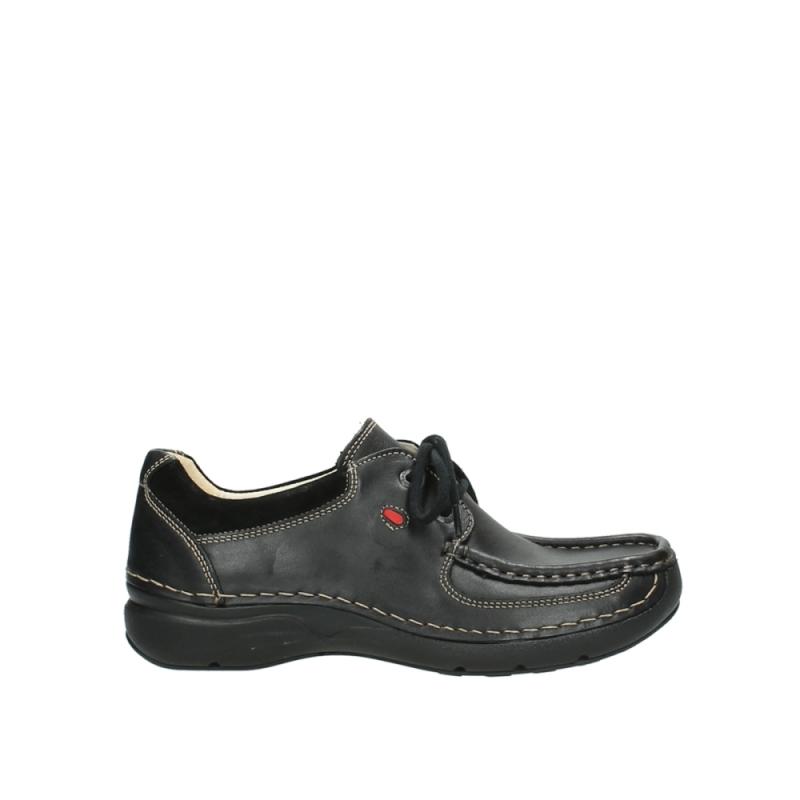 Wolky Veterschoenen 07213 Rolling Shoe - 50000 zwart leer